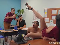 dirty teacher Anissa Kate wants to get fucked by a dude in the classroom