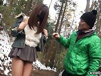 Cute and spoiled Japanese nympho in sunglasses Akiko Kurokawa gives a blowjob