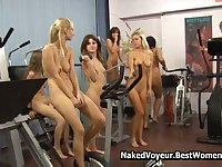 Amazing Body Polish Naked Teens In The Gym Voyeur