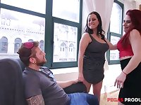 Amazing curvaceous Valerie Milton loves nothing but hot like fire FFM