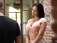 Oversexed milf living nextdoor Brooke Beretta polishes hard dick and gets her muff rammed