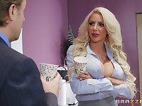Silicone queen Nicolette Shea wants to show her sexual skills to a guy