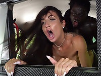 Horny driver hungry for black cock