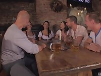 Abbie Cata and Anissa Kate adore to fuck in a group with strangers