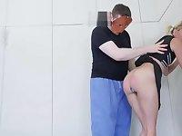 1h1f piss syringe enema expulsion