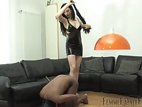 A pain and passion are the favorite mix for dominant Lady Mephista