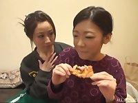 Yuu Kawakami is one step closer to reach orgasm with her friend