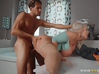Blonde wife leads this young man to insane hardcore scenes