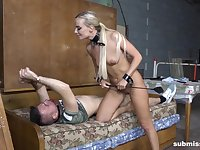 Femdom in the army with Victoria Pure