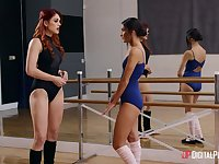 Ballerinas Emily Willis and Molly Stewart get naked and horny