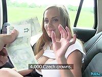 Czech model Monica Bollocksy fucked in the back of the car