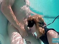 Having noticed erected cock underwater spoiled Marcie gives nice head