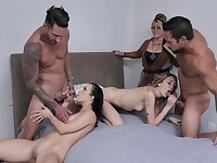 Sluts on fire share dicks and swap them in dirty home XXX