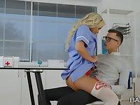 Nurse shows young lad proper porn moments in a crazy XXX shag