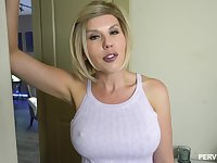 Close up video of a husband fucking his pornstar wife Amber Chase