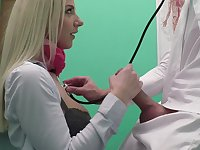 Impressionable Nathaly Cherie gets her young twat stuffed at the clinic