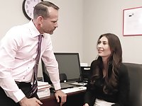 Office girl Angelina Diamanti works hard to get ahead at her job