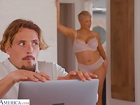 Young man gets caught watching his stepmom's nudes on her computer