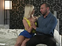 Stepdad can't resist the temptation to fuck 19 yo stepdaughter Natalia Queen