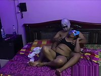 indian couple having sex with big ass desi bhabhi spreading her legs wide
