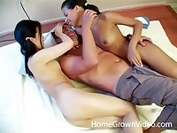 Lucky man slides his dick in his girlfriend and her best friend