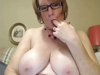 I love this four eyed granny and I love her huge saggy milkers