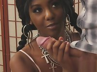 Two bisexual guys screwing beautiful black babe Daizy Cooper