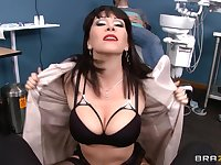 Mature chick Rayveness takes a large dick in her tight holes