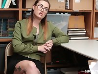 Kat Monroe is a nerdy babe who has to learn a lesson about shoplifting and getting caught