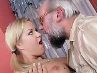 horny silver daddy and Sunny Diamond