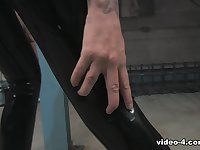 Becky Holt in Black Top and Leggings - LatexHeavenVideo