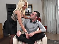 Super seductive and extremely horny busty blondie Tiffany Rousso loves fuck