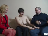 Mature German sluts moan during hardcore fucking with strangers