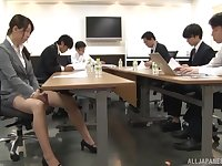 Smooth fucking in the office with nice tits secretary and her boss