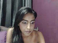 Webcam topless Desi nympho flashes her big saggers