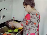 Robber in mask fucks chubby housewife