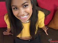 Sexy ebony teen Loni Legend doing a POV oral