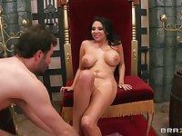 Brunette pornstar Missy Martinez spreads her legs for deep anal