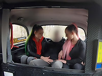 Identical Sisters Fuck Euro Cabbie
